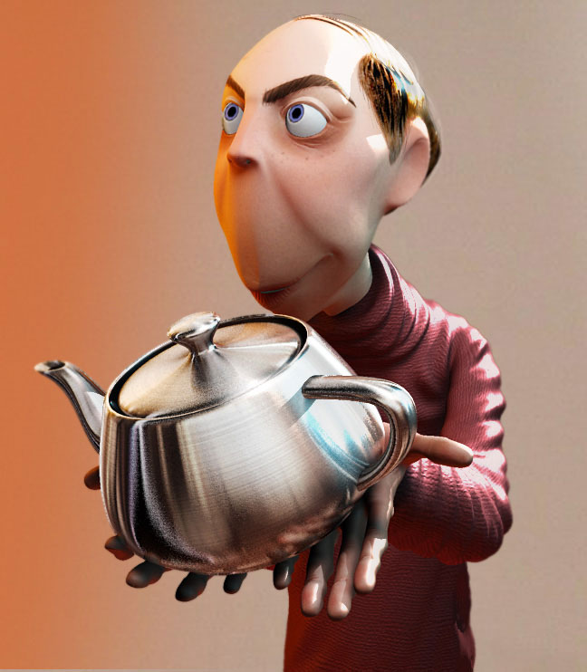 3d-character-design Jones teapot - By AlanCamara