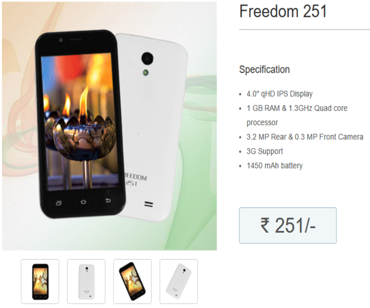 Ringing Bells Launch Freedom 251, With New Website And More Products