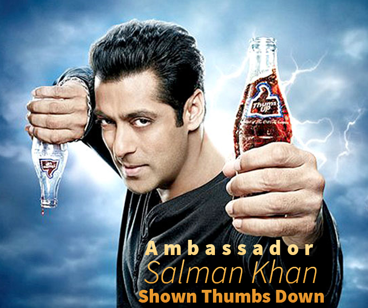 Ambassador Salman Khan Shown Thumbs Down