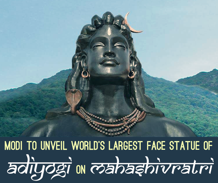 Modi To Unveil World's Largest Face Statue Of Adiyogi On Mahashivratri