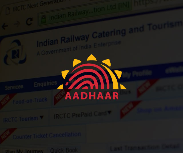 Aadhaar Card To Be Made Compulsory For Booking Train Tickets Online