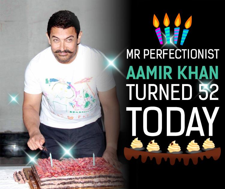 Aamir Khan cuts his birthday cake at Mumbai residence