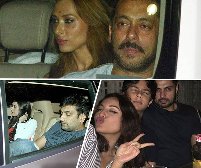 Alleged couples Salman-Lulia, Sonakshi-Bunty, Karisma-Sandeep get together for Seema Khan's birthday bash