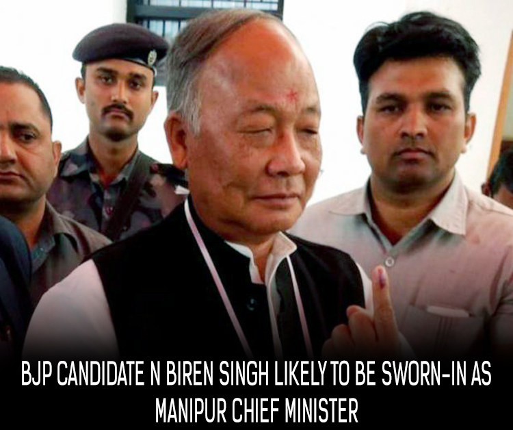 BJP candidate N Biren Singh likely to be sworn-in as Manipur chief minister