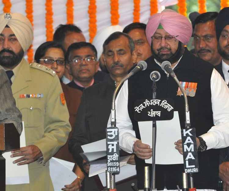 Captain Amarinder Singh takes oath as Punjab Chief Minister