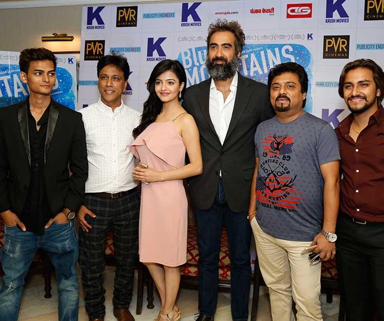Ranvir Shorey, Gracy Singh visit Delhi to promote Blue Mountain