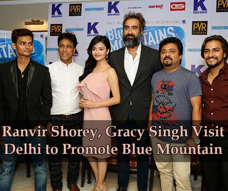 Ranvir Shorey, Gracy Singh visit Delhi to promote Blue Mountain