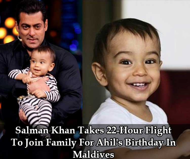 Salman Khan takes 22-Hour Flight To Join Family For Ahil's Birthday In Maldives