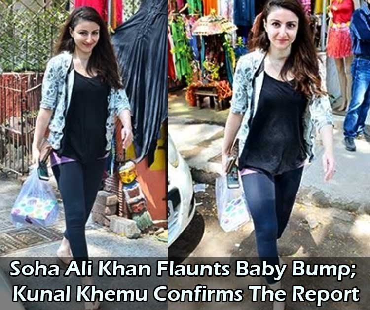 Soha Ali Khan Flaunts Baby Bump; Kunal Khemu Confirms The Report