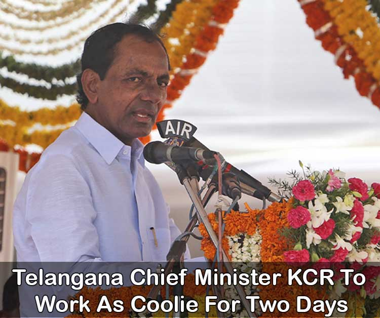 Telangana Chief Minister KCR To Work As Coolie For Two Days