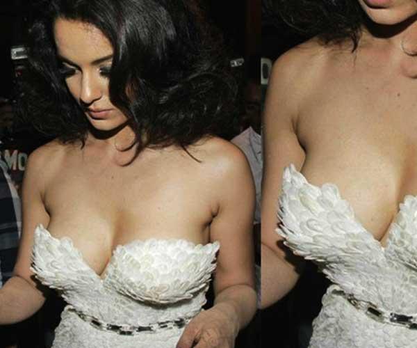 Oops Moments and Most Embarrassing Wardrobe Malfunctions of Kangana Ranaut