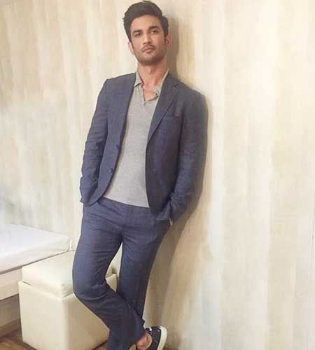 Candid with Sushant Singh Rajput Grey To Blue Monotone