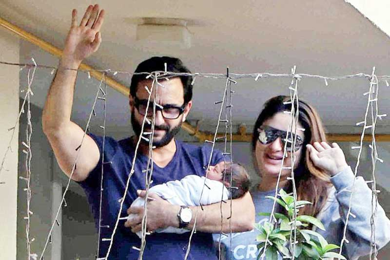 Saif Ali Khan, Kareena and Taimur