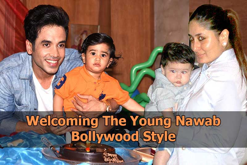 Welcoming The Young Nawab Bollywood Style